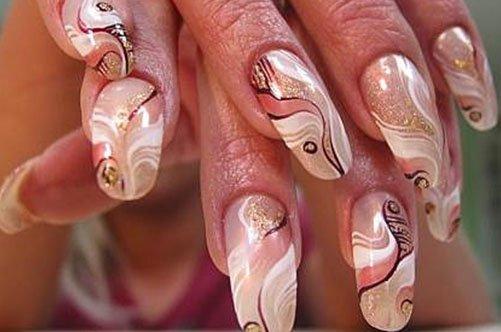 Фото ногтей сграфиями