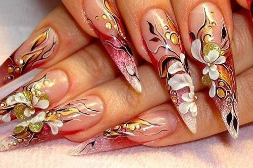 дизайн ногтей акриловыми красками фото