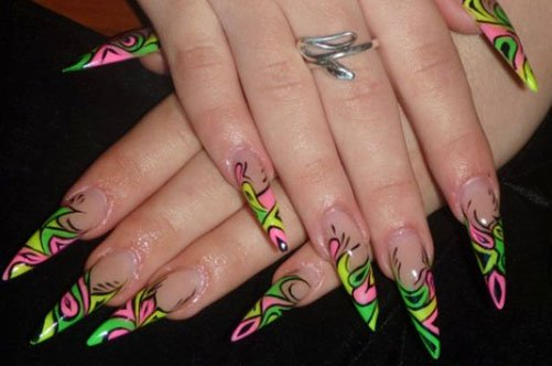 дизайн ногтей краски акрил фото