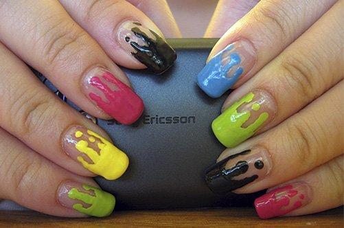 дизайн ногтей для начинающих краски фото