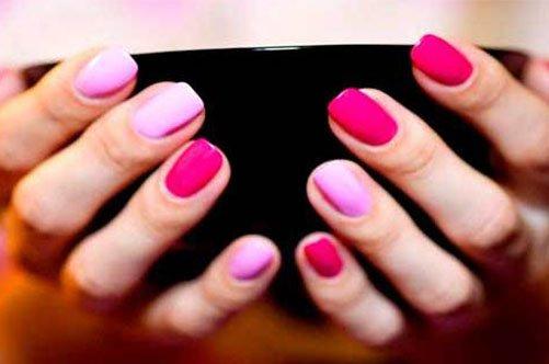 разноцветный дизайн ногтей гель-лаком фото