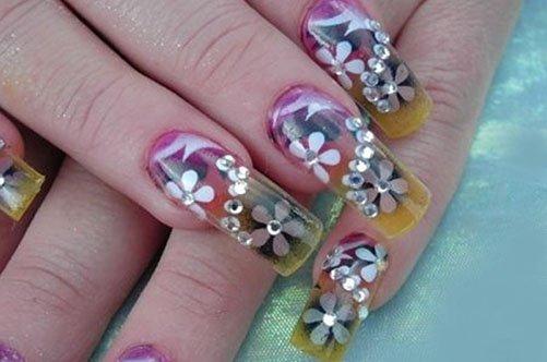 дизайн ногтей гелем аквариумный дизайн фото