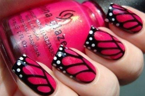 красивый дизайн ногтей крыло бабочки фото
