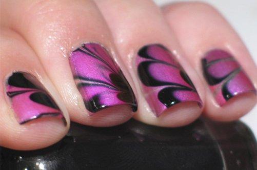 водный дизайн ногтей крыло бабочки фото