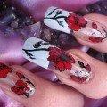 дизайн ногтей с маками фото