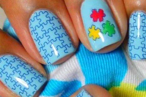 мозаика паззл дизайн ногтей фото