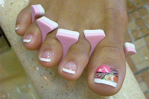 дизайн ногтей на ногах фото