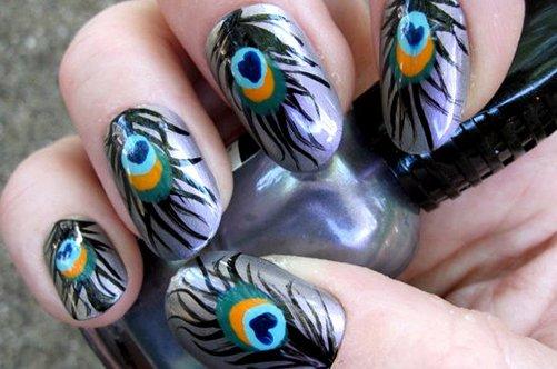павлин перо дизайн ногтей фото