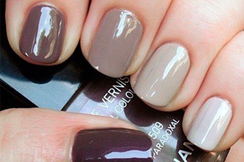 коричневый дизайн ногтей в домашних условиях фото