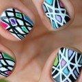 красивый дизайн ногтей витраж фото