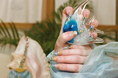 красивый дизайн ногтей аквариум фото