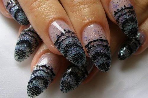 кружевной дизайн ногтей 2013 фото