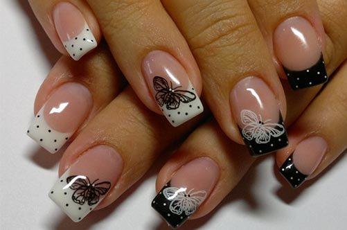 Новый дизайн ногтей: френч