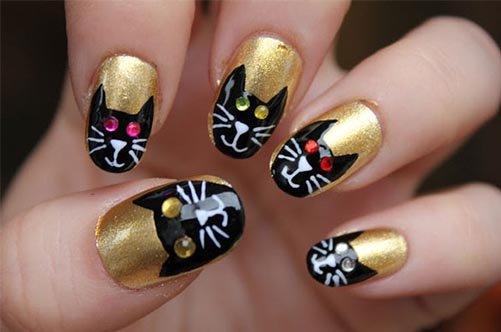 дизайн ногтей для начинающих кошки фото