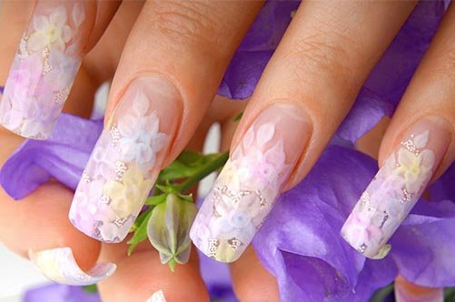 дизайн ногтей френс рисунком фото