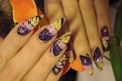 яркий аквариумный дизайн ногтей фото