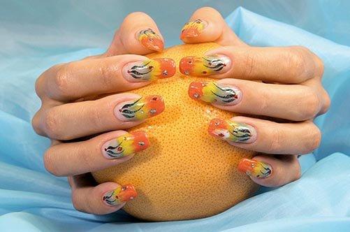 Фото дизайна ногтей: осень 2013