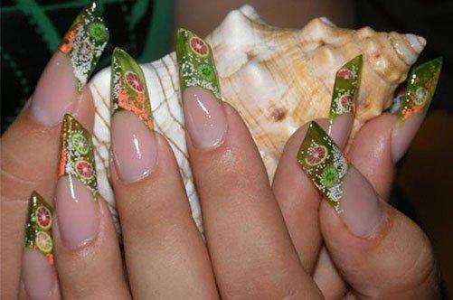 стильный дизайн ногтей аквариум фото