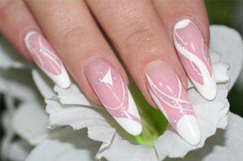 френч дизайн акриловых ногтей фото