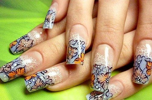 необычный дизайн акриловых ногтей фото
