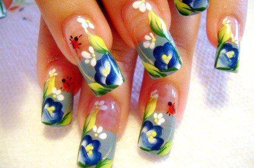 креативный дизайн акриловых ногтей фото