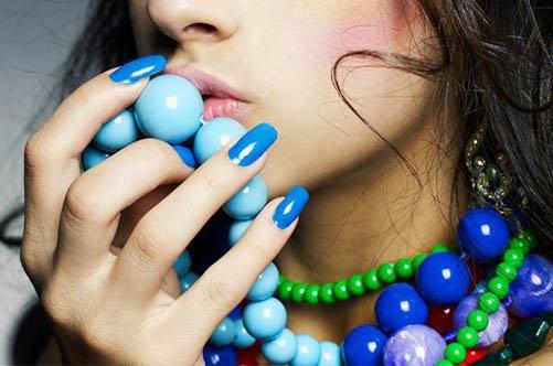фото дизайна синих гелевых ногтей