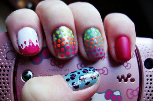 веселый дизайн коротких ногтей фото