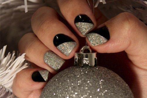 фото дизайна квадратных ногтей 2013 с блестками