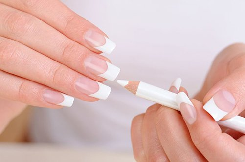 фото дизайна ногтей френч