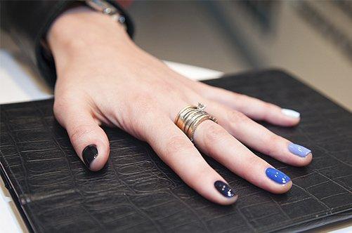 фото нового синего дизайна ногтей 2013