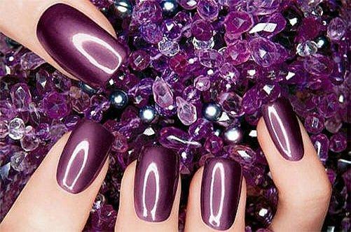 фото нового бордового дизайна ногтей 2013