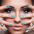 зеленый дизайн ногтей шилаком фото