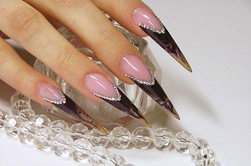 Фото дизайна острых ногтей
