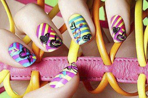 фото радужного дизайна ногтей