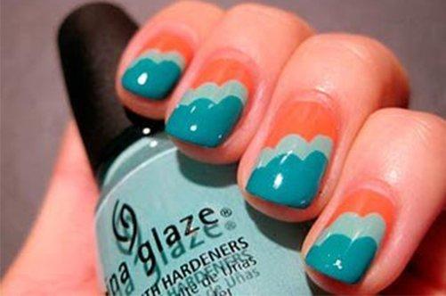 фото дизайна ногтей облака
