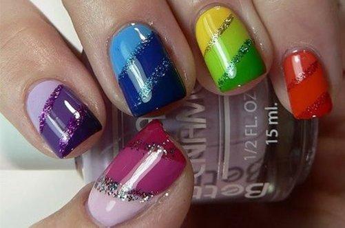 фото красивого дизайна ногтей 2013 радуга фото
