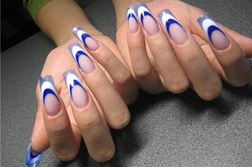 фото морского дизайна ногтей акрил