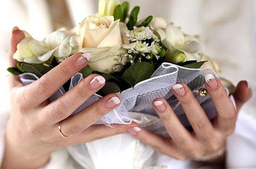 фото свадебного маникюра