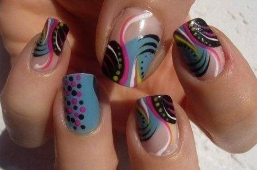яркий необычный дизайн ногтей фото