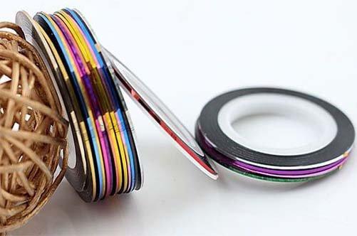 лента для дизайна ногтей фото