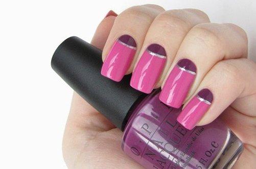 розовый лунный дизайн ногтей фото