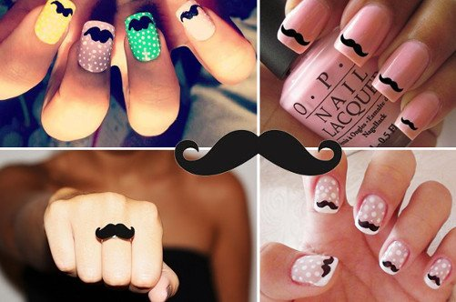 новинки дизайна ногтей 2013 джентельменские усы фото