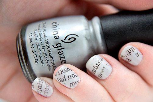 красивый газетный дизайн ногтей 2013 фото