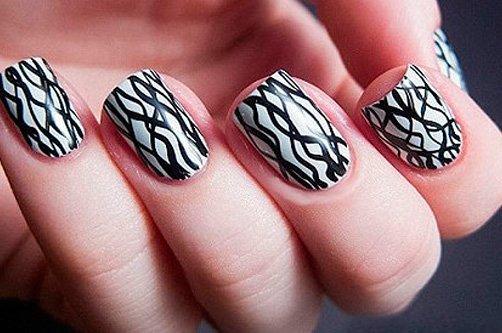 дизайн ногтей гелем с рисунком фото