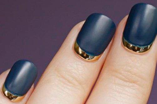 фото черного золотым дазийна ногтей осень 2013