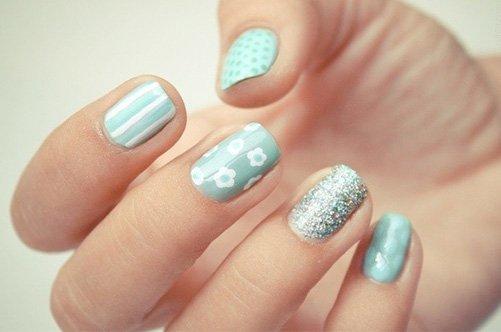 модный бирюзовый дизайн ногтей 2013 фото
