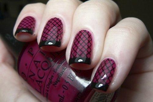 модный дизайн ногтей 2013 в клетку фото