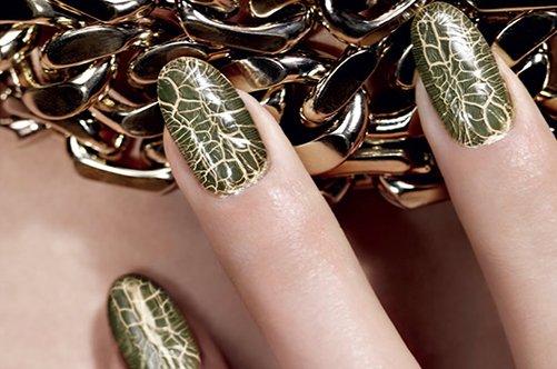 модный дизайн ногтей змеиная кожа фото
