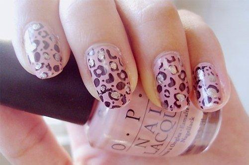 модный дизайн ногтей розовый леопард фото