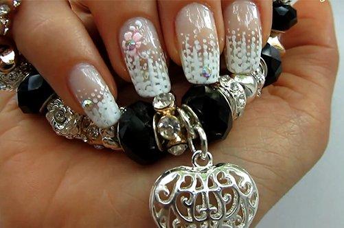модный ажурный дизайн ногтей фото